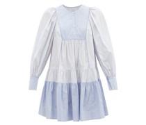 Diana Pinstriped Cotton-poplin Mini Dress