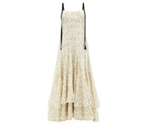 Terrie Floral-print Linen-blend Voile Dress