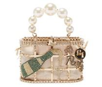 Holli Cincin Crystal, Faux-pearl And Metal Bag