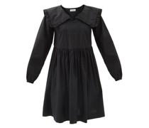 Atlanta Frilled-collar Cotton-poplin Mini Dress