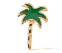 Palm Tree Enamel & 14kt Gold Single Earring