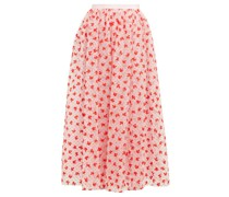 Lindie Floral-flocked Tulle Maxi Skirt