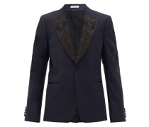 Silk-trimmed Wool And Mohair-blend Tuxedo Jacket