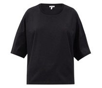 Logo-embroidered Oversized Cotton-jersey T-shirt