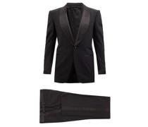Shawl-lapel Wool-blend Crepe Tuxedo