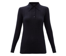 Olympia Point-collar Ribbed-cashmere Sweater