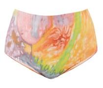 Lydia Abstract-print Recycled-fibre Bikini Briefs
