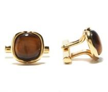 Tiger's Eye & 18kt Gold Cufflinks