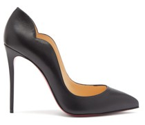 Hot Chick Scalloped-edge Leather Pumps