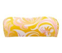 Albizia-print Bandeau Bikini Top