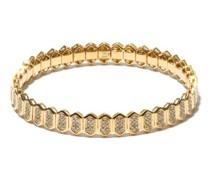 Diamond & 18kt Gold Stretch Bracelet