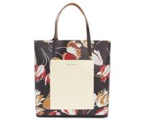 North-south Floral-print Pvc Tote Bag