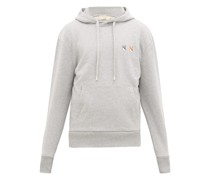 Double Fox Head-patch Cotton Hooded Sweatshirt