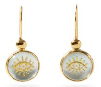 Evil Eye Mother-of-pearl & Gold-plated Earrings