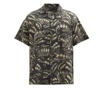 Pardalis Reptile-print Cotton-poplin Pyjama Shirt