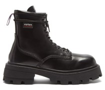 Michigan Raised-sole Leather Military Boots