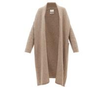 Shawl-collar Alpaca-blend Longline Cardigan