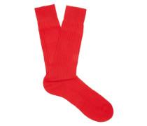 Danvers Ribbed-knit Socks