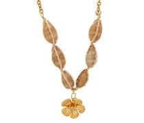 Crystal-studded Floral Necklace