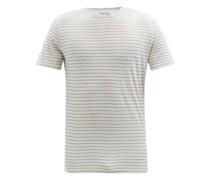 Striped Cotton-blend Jersey T-shirt