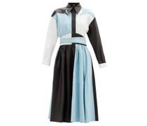 Lisa Colour-block Leather Dress