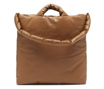 Oil Medium Padded Cotton-blend Canvas Tote
