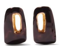 Trapeze Enamel Earrings