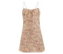 Floral-print Silk-crepe De Chine Mini Dress