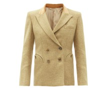 Marigold Charmer Double-breasted Wool Blazer