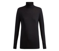 Roll-neck Fine-knit Cashmere Sweater