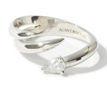 Shard Diamond & 18kt White-gold Ring