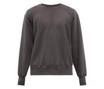 Cropped Brushed-back Cotton Sweatshirt