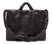 Messenger Padded Leather Tote Bag