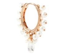 Pearl Coronet Diamond & 14kt Gold Single Earring