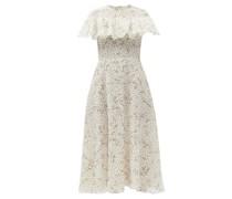 Ruffled Floral-print Silk-georgette Dress