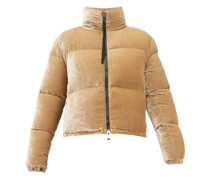Rimac Velvet Quilted Down Jacket