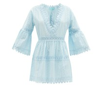 Victoria Lace-trim Cotton Mini Dress