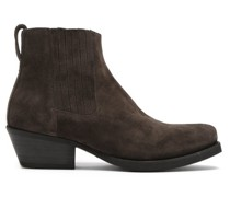 Cuban Suede Heeled Ankle Boots