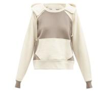 Two-tone Double-layer Cotton Hooded Sweatshirt