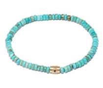Sapphire, Turquoise & 14kt Gold Beaded Bracelet