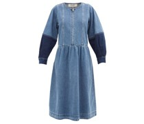 Zariyah Zipped Denim Midi Dress