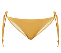 The Iris Side-tie Lamé Bikini Briefs