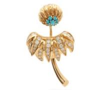 Dahlia Diamond & 18kt Gold Single Earring