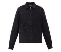 Clubhouse Embroidered Cotton-corduroy Jacket