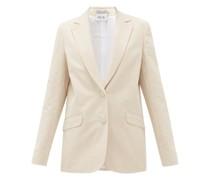 Gelato Single-breasted Cotton-seersucker Jacket