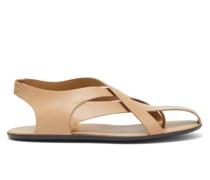 Spider Leather Slingback Sandals