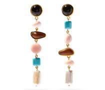 Heroine Gemstone And Gold-plated Drop Earrings