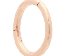 Plain 14kt Rose-gold Single Hoop Earring