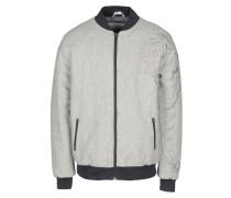 Embroidered Wool Zip Varsity Jacket Jacke