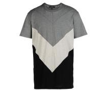 FIVE TEE  Diagonal Multicolour Insert T-Shirt T-shirts